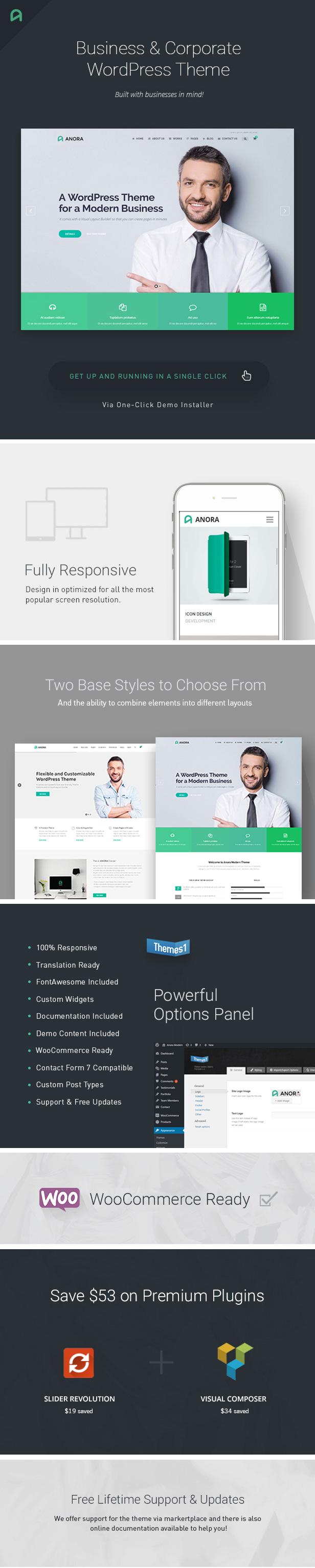 Anora - Business & Corporate WordPress Theme - 1