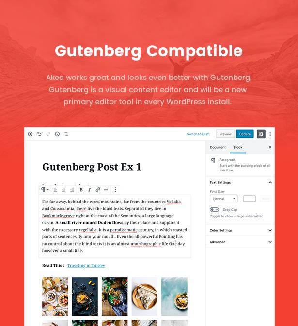 Akea Blog -  Gutenberg Minimal Blog WordPress For Blog - 2