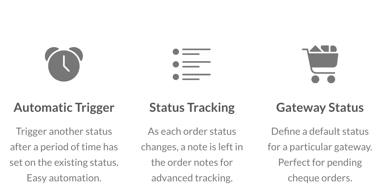Automatic Trigger, Status Tracking and Gateway Status