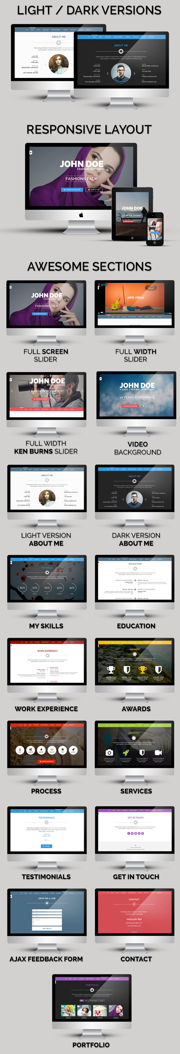 Personal One - OnePage / VCard / Wordpress Theme - 2