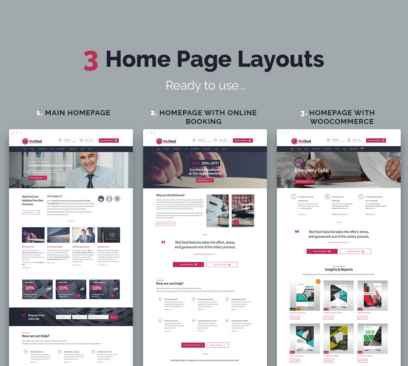 RedSeal new demo home pages