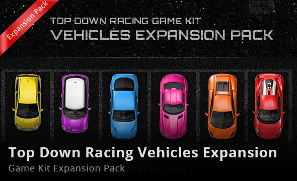 Top Down Racing Game Kit Vehicles Expansion Pack