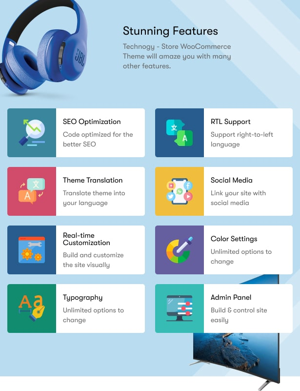 Technocy - Electronics Store WooCommerce Theme Features
