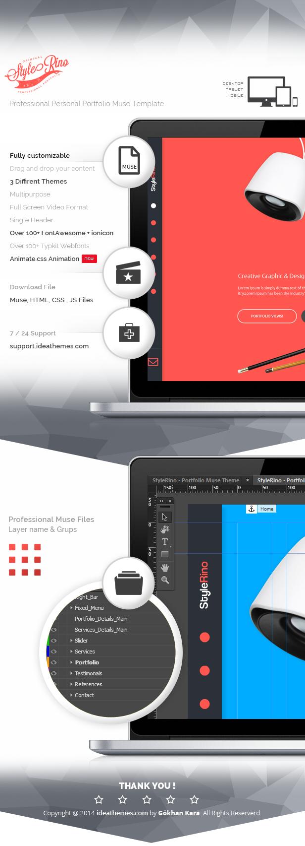 StyleRino - MultiPurpose Portfolio Muse Template - 1