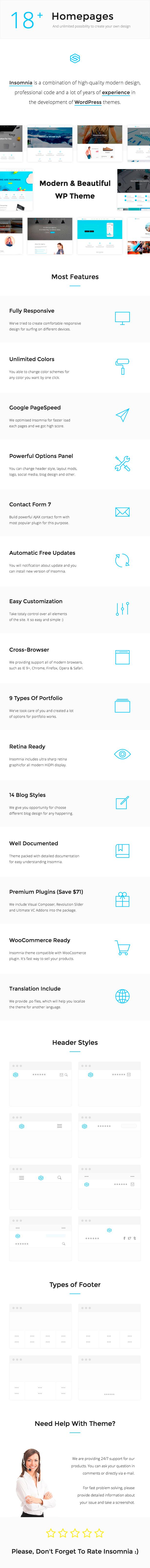 Insomnia - Beautiful and Modern Creative WordPress Theme