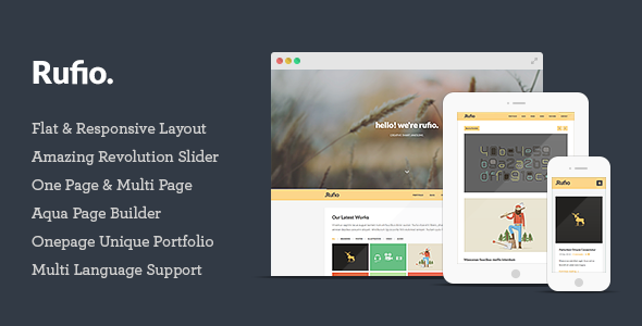 Rufio - 2 in 1 Responsive WordPress Theme - 1