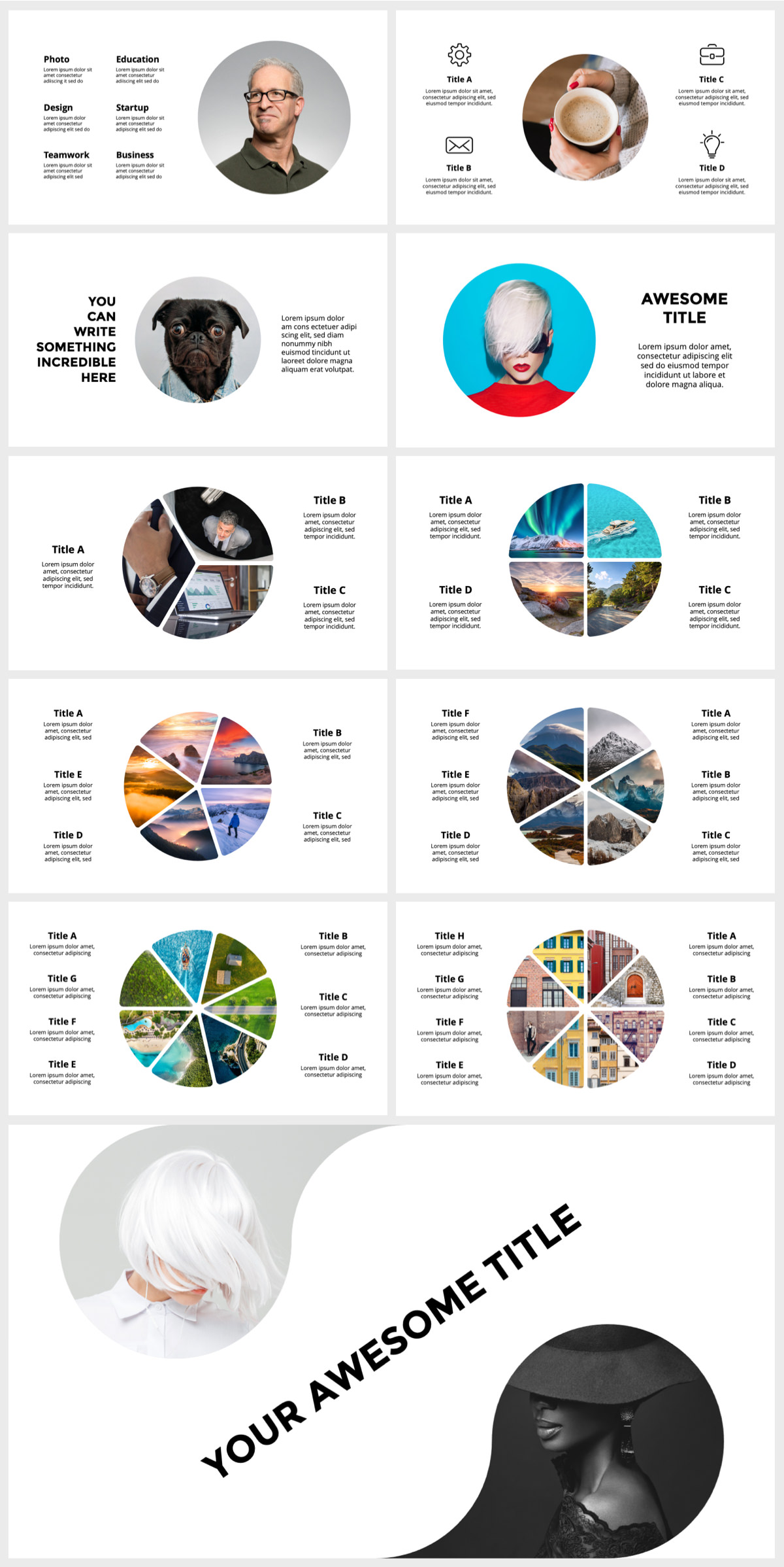 Huge Infographics Bundle! Lifetime Updates! PowerPoint, Photoshop, Illustrator. - 147