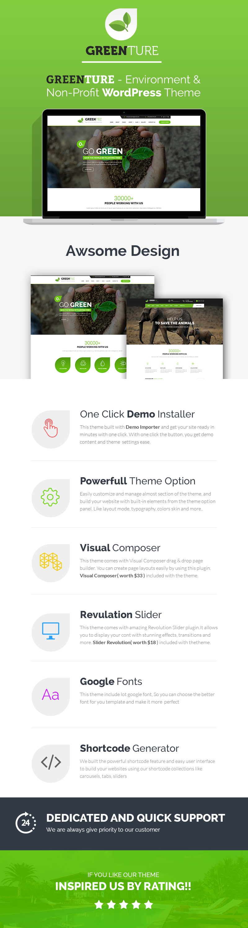 Greenture - Environment / Non-Profit WordPress Theme - 1