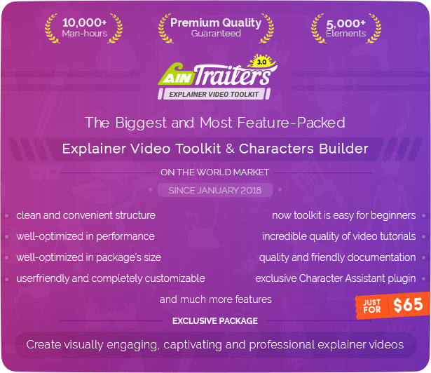 AinTrailers | Explainer Video Toolkit with Character Animation Builder - 11