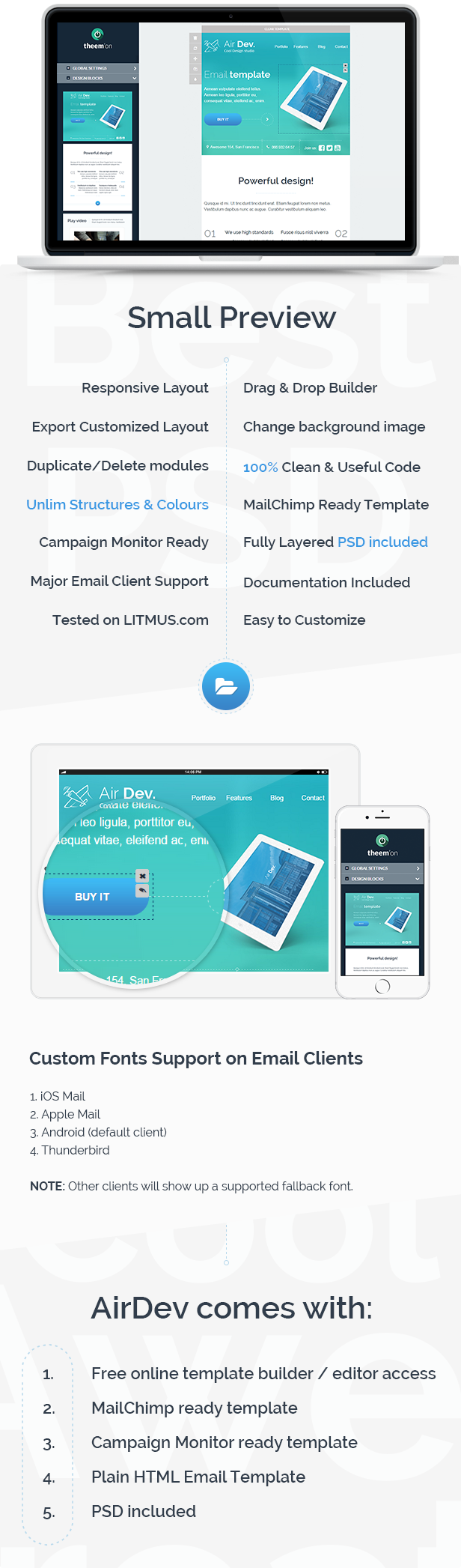 Airdev corporate email template builder access by eeemon being the best responsive email template airdev is available with a wide range of stunning features like responsive layout drag drop builder and cheaphphosting Choice Image