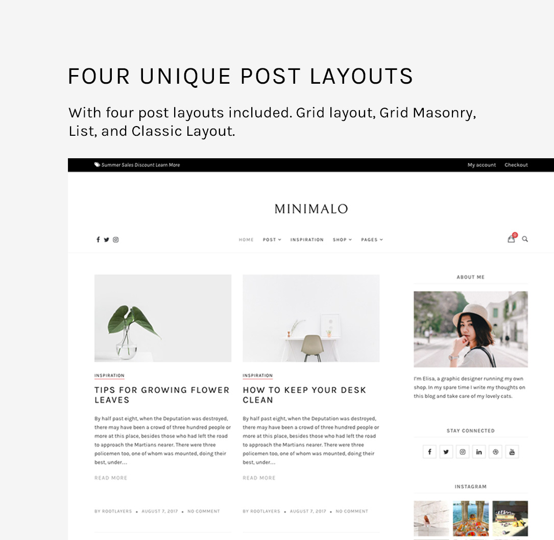 Minimalo - A Minimal Blog WordPress Theme for Creative Websites - 5