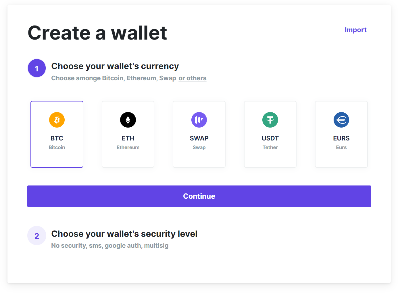 Bitcoin, Ethereum, ERC20 crypto wallets with exchange - 2