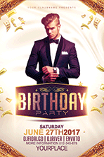 Birthday Party Flyer Template 1 - 3