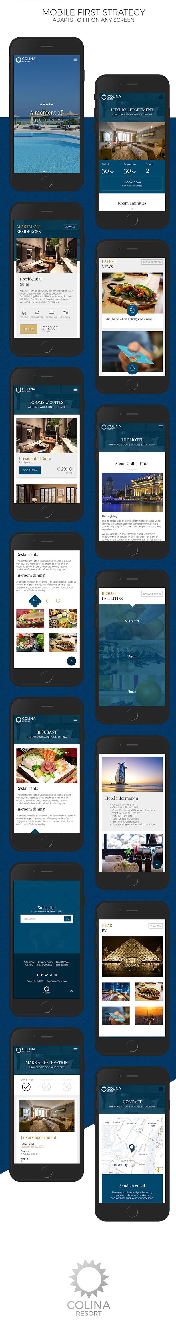 Colina v1.0-高端酒店/旅游度假景区酒店HTML模板插图4