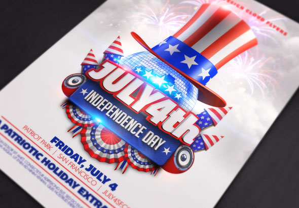 July 4Th Independence Day Flyer Template By Design-Cloud