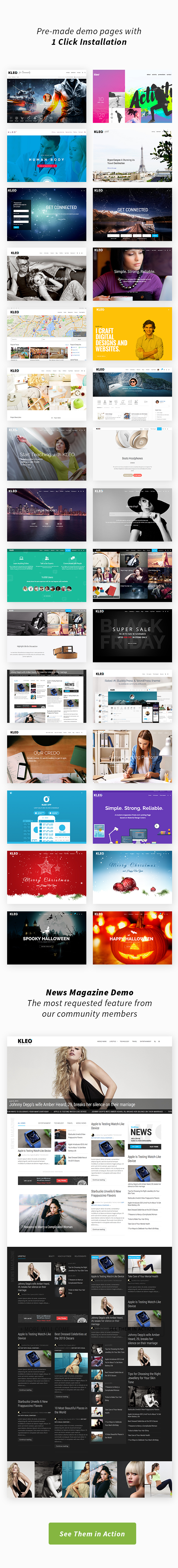 KLEO - Pro Community Focused, Multi-Purpose BuddyPress Theme - 4
