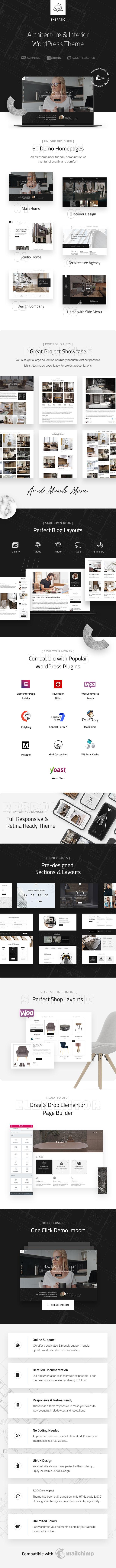 Theratio v1.1.7 Architecture & Interior Design WordPress Theme