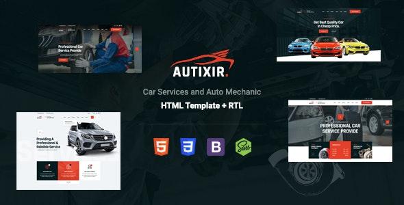 Autixir - Car Services & Dealer HTML Template