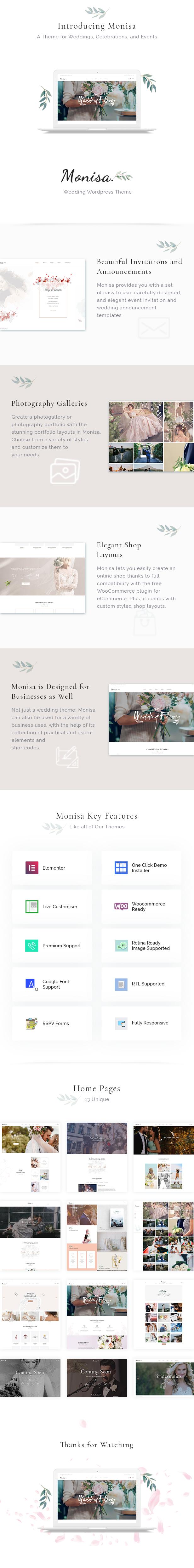 Monisa - Elegant & Clean Wedding Theme