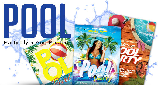 Pool Party Flyer Poster