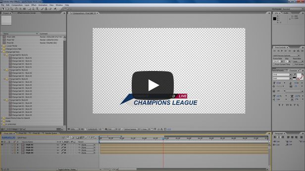 sport lower thirds video tutorial