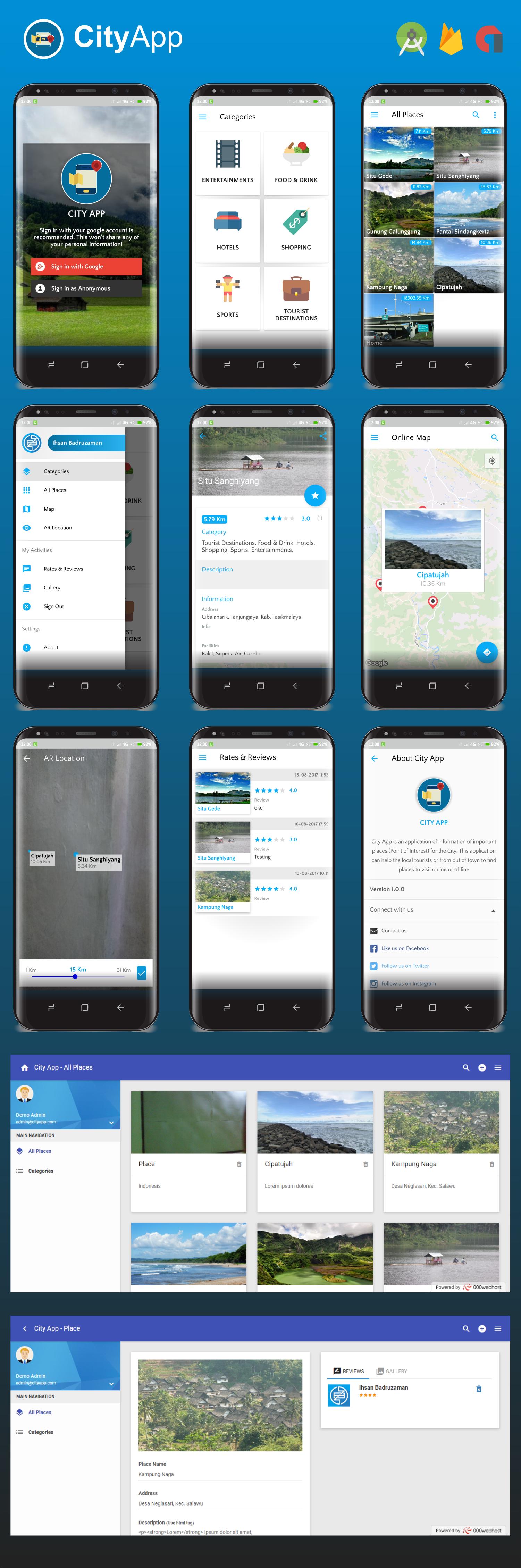 City App (Firebase, Admob, Augmented Reality) - 2