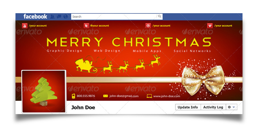 Christmas Real Estate Twitter Cover - 10