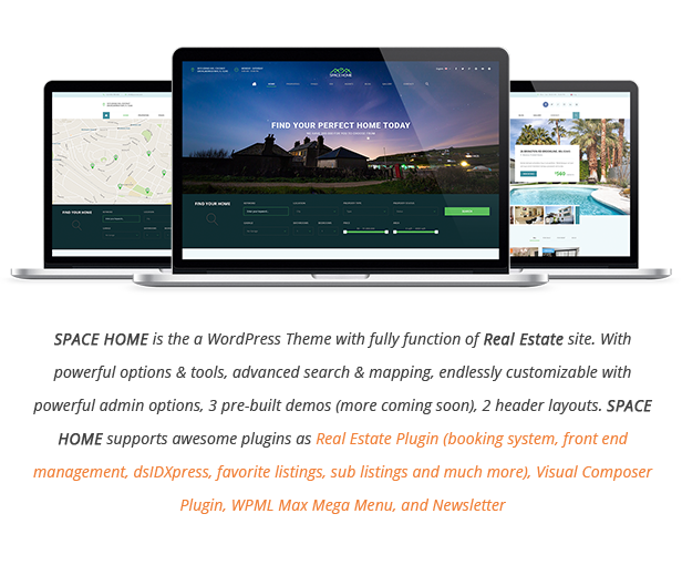 Space Home - Real Estate WordPress Theme - 3