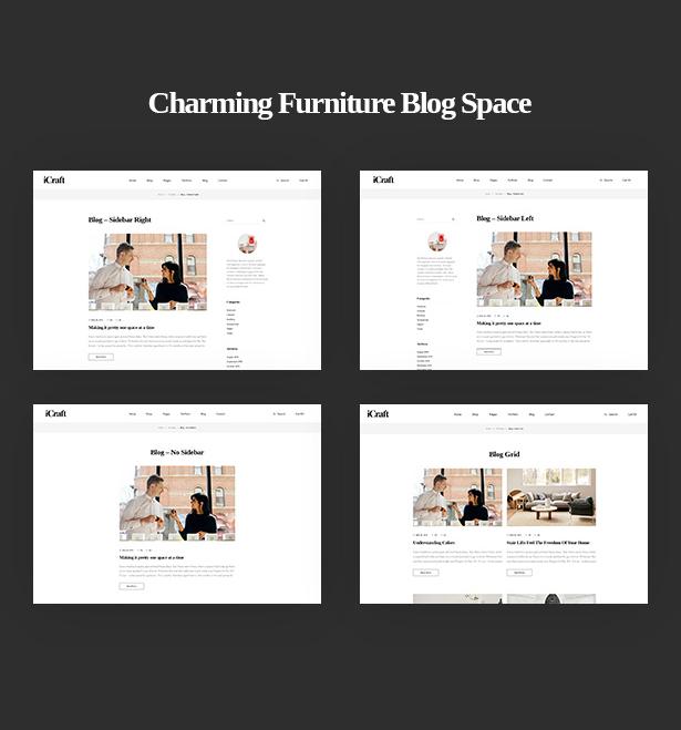 Charming Furniture Blog Space