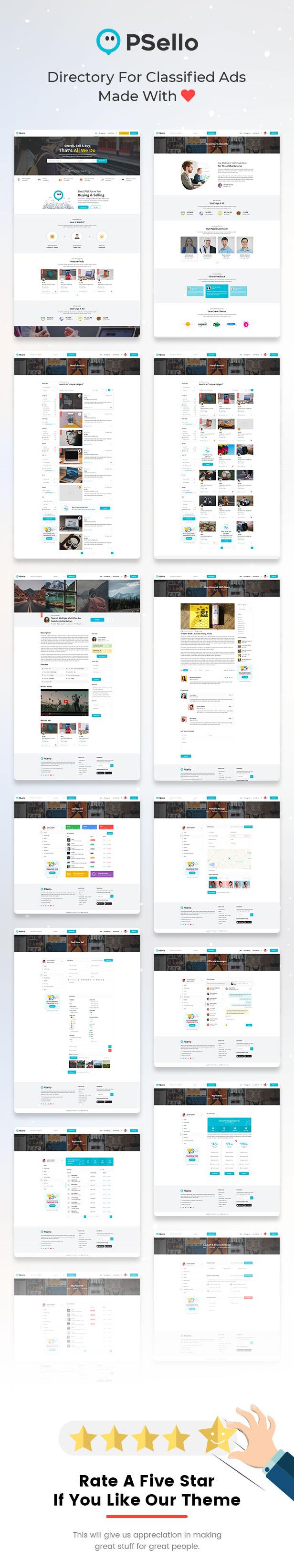 Psello - Classifid Ads Marketplace PSD Template - 4