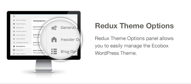 Ecobox WordPress Theme Features: Theme Options