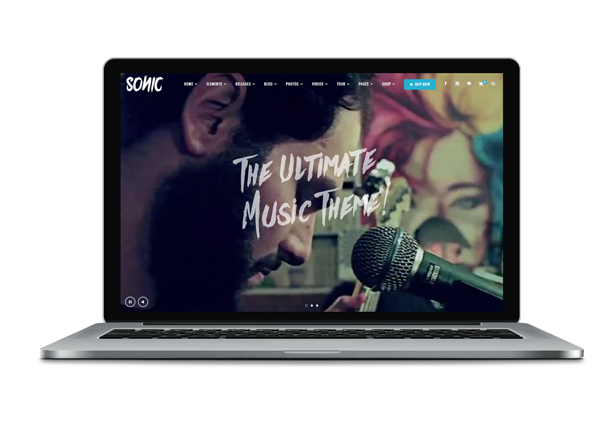 music wordpress theme presentation