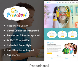 Nurseries Kindergarten and School WordPress Theme