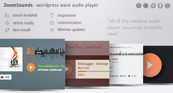 ZoomSounds - WordPress Wave Audio Player with Playlist by ZoomIt