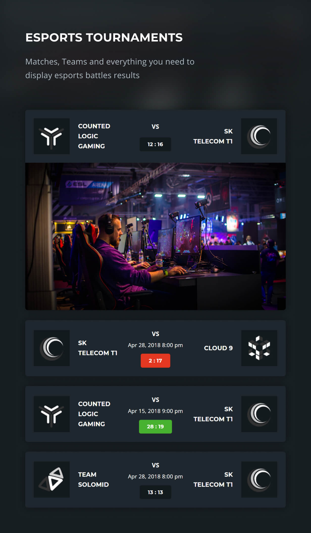 eSports features