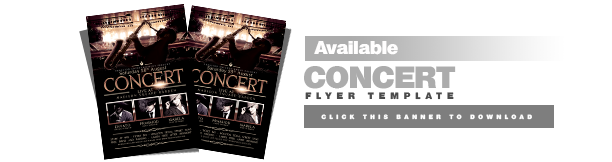 Concert Live CD Cover Template - 1