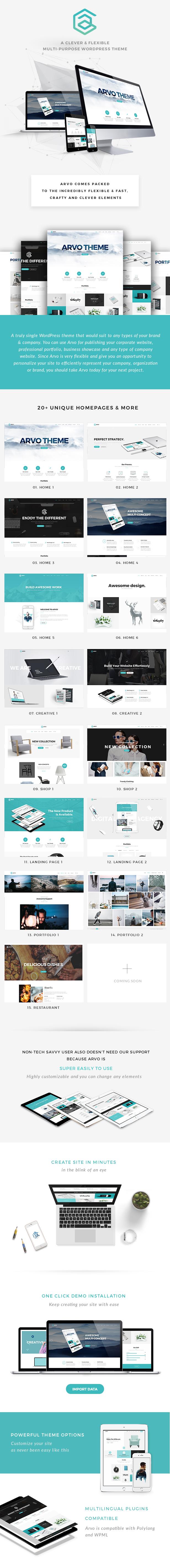 Arvo - A Clever & Flexible Multipurpose WordPress Theme - 10