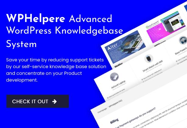 WPHelpere WordPress Knowledge base plugin