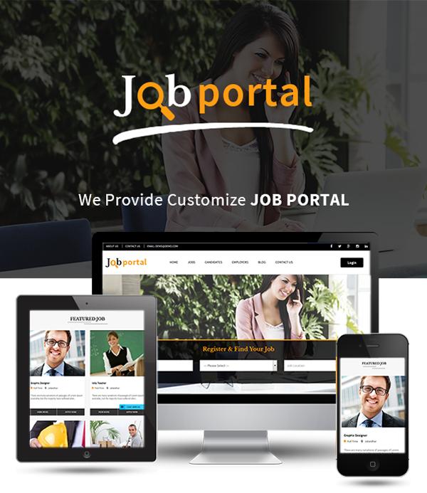 Job Portal Script homepage
