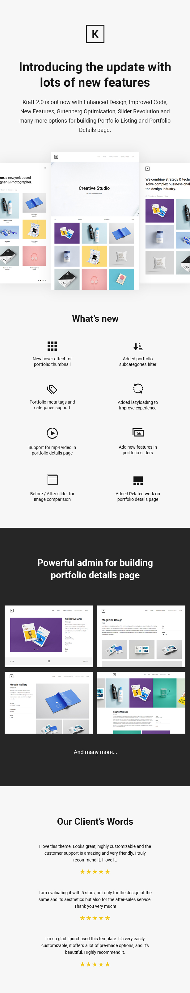 Kraft - Minimal Portfolio WordPress Theme