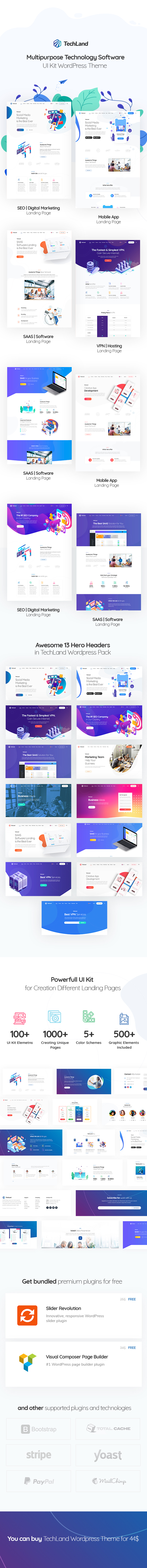 Techland - WordPress Saas Startup Theme - 1