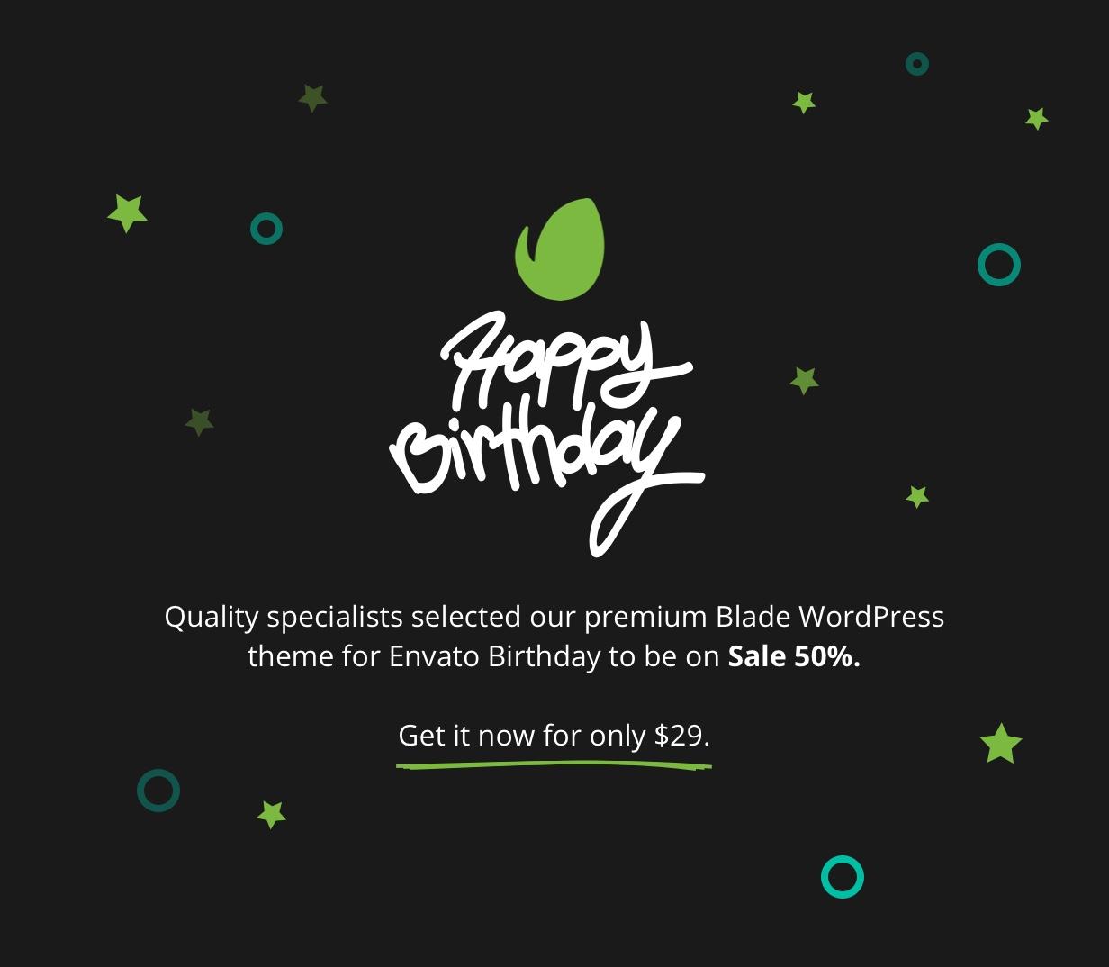 Envato Birthday Campaign