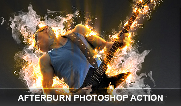 Afterburn Photoshop actions