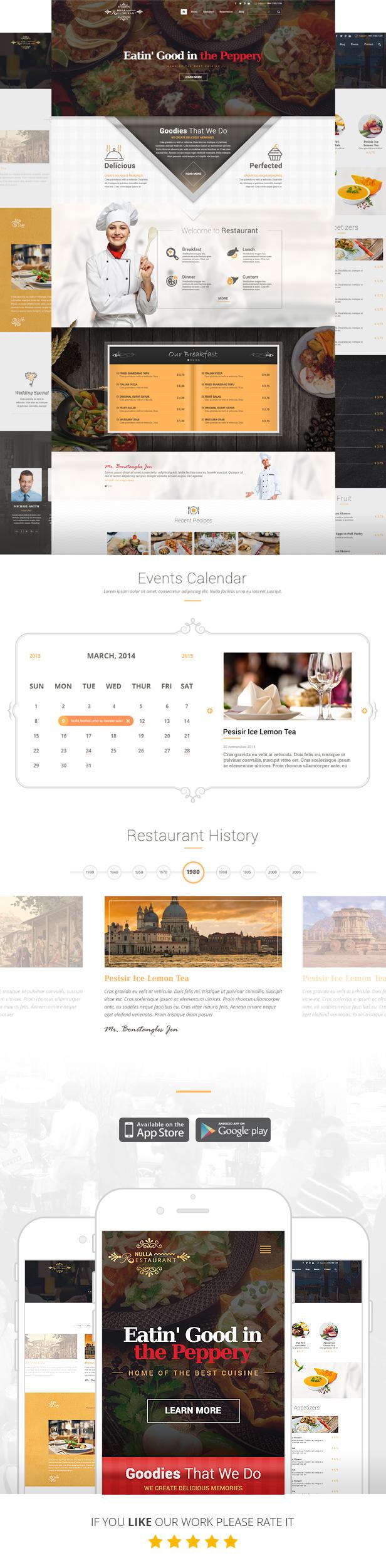 3002 - Restaurant PSD Template