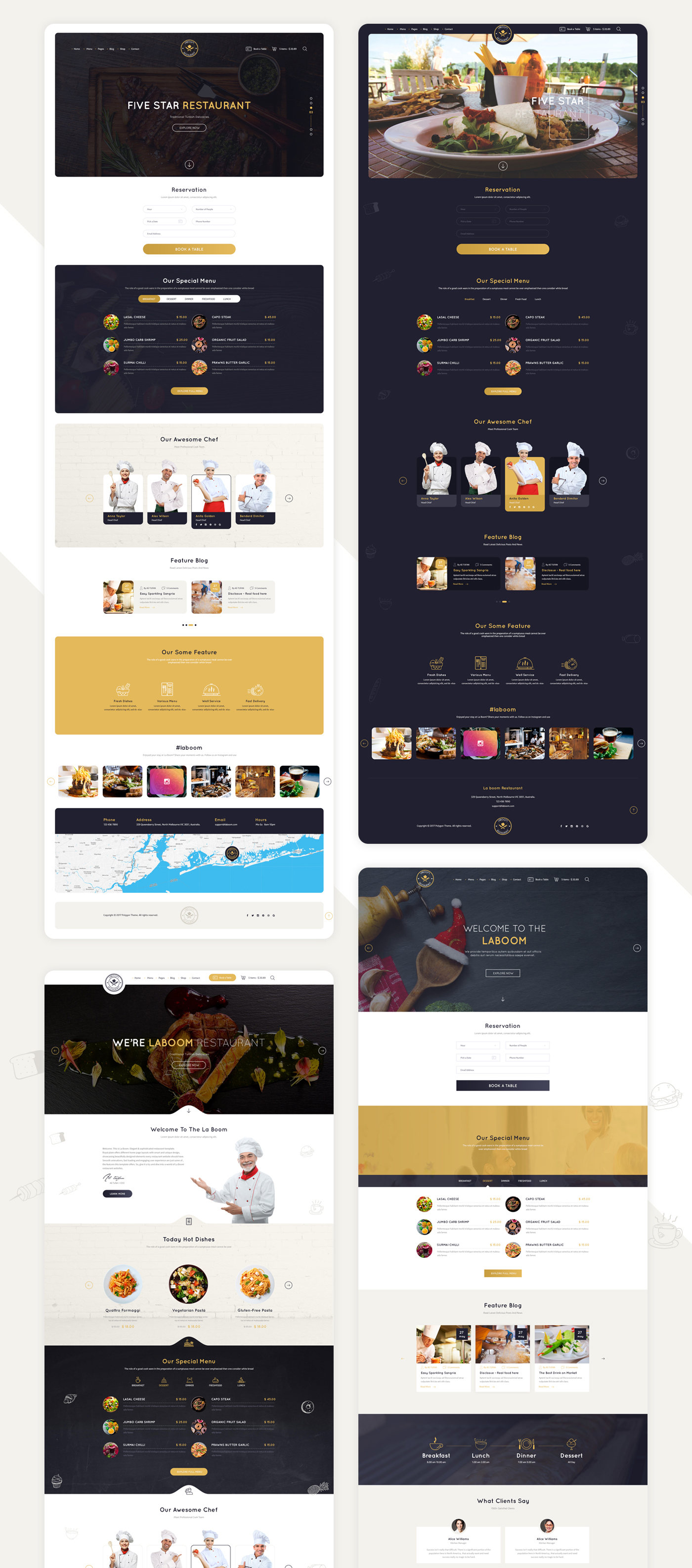 La Boom - Food & Restaurant Bistro WordPress Theme - 11