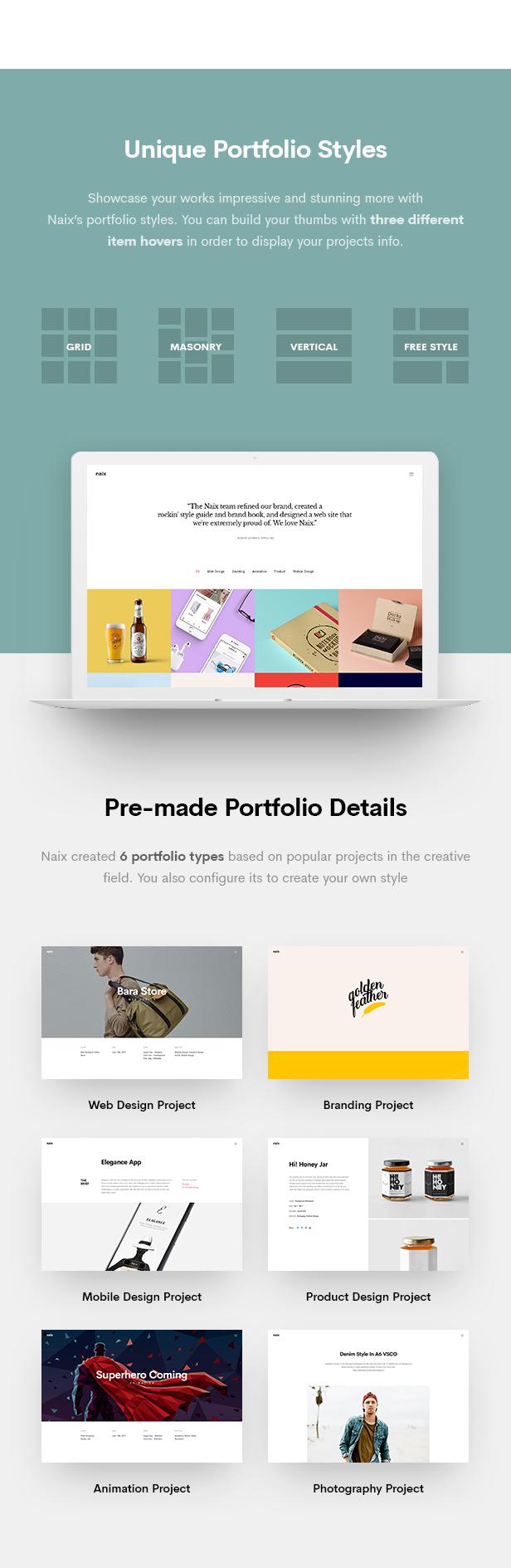 Naix - Creative Portfolio PSD Template - 11