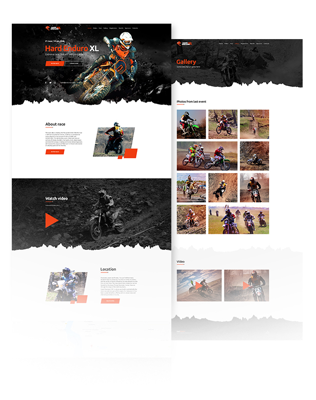 Enduro - Extreme Motorcycle Race Event Website Muse Template