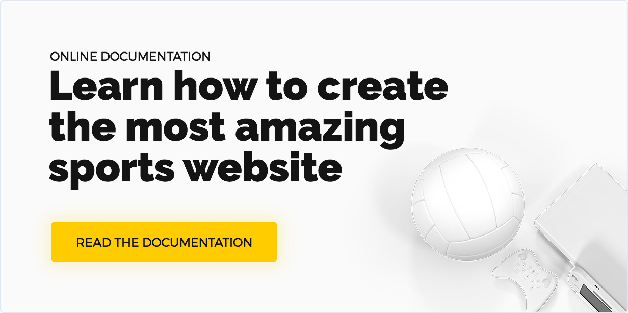 Team WordPress Documentation or How to create the most awesome sport website