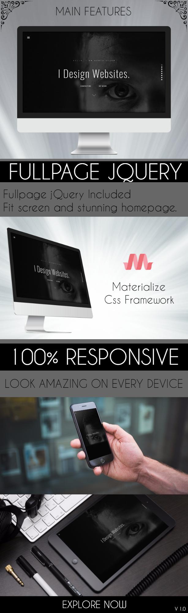 Eye-Look Personal Portfolio HTML5 Template - 1
