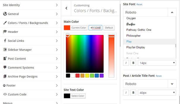 Customizer News WordPress Theme